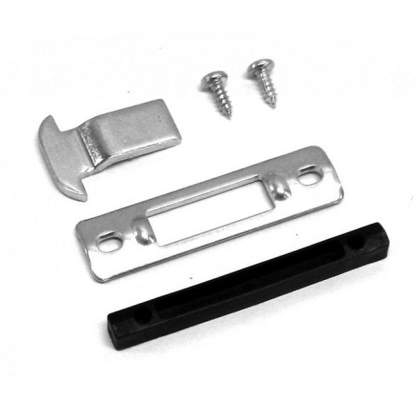 Closing kit with keeper and hook in stainless steel for sliding handle